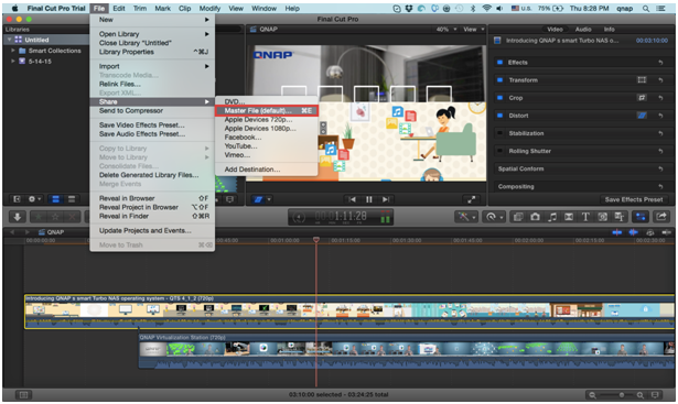 How to use Final Cut Pro X with Thunderbolt-compatible NAS