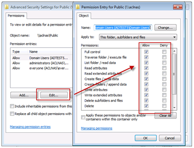 How to Use Windows ACL to Manage User Permissions on the QNAP NAS
