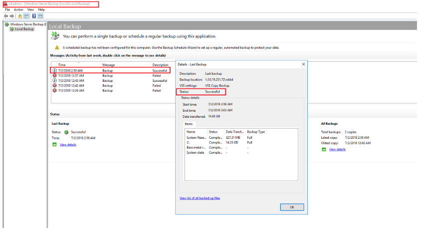 How to back up files to shared folders on a NAS using Windows Server
