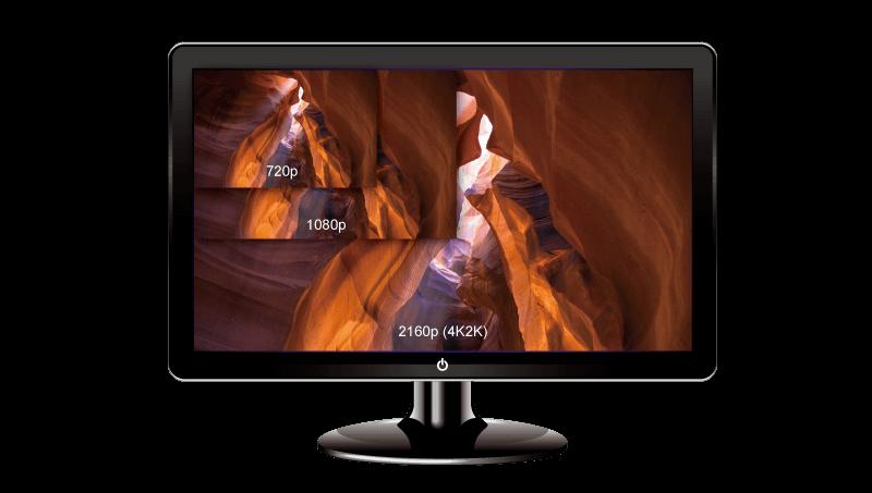 QNAP QvPC 4K Ultra HD display via HDMI