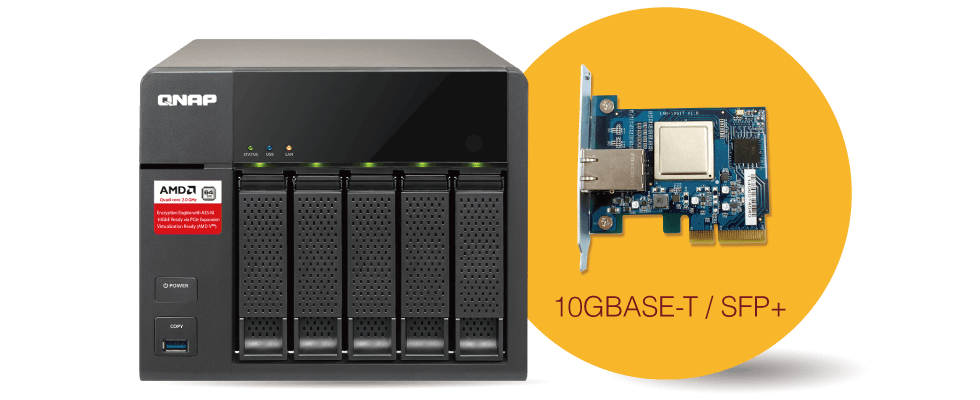 QNAP Flexible 10Gbe connectivity