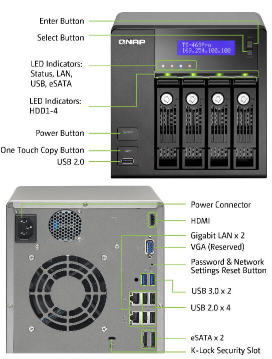 QNAP TS-469Pro Turbo NAS QTS 64 Bit