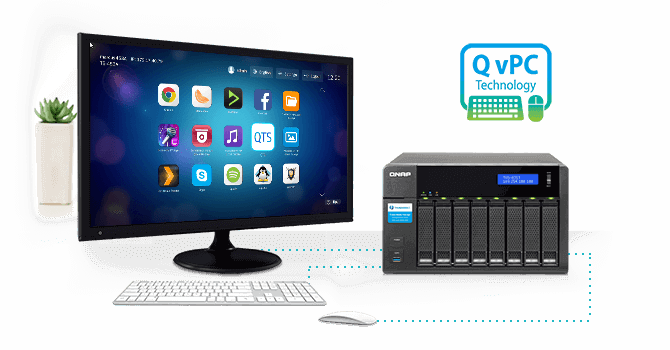 QNAP Use your TVS-871T as a PC