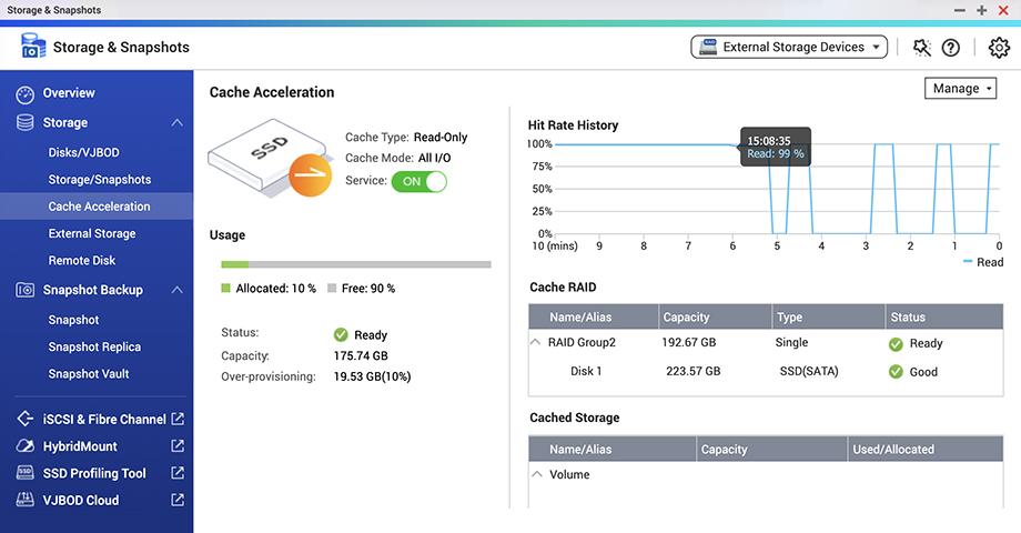 QTS 5.0 zvyšuje výkon a využití NVMe SSD
