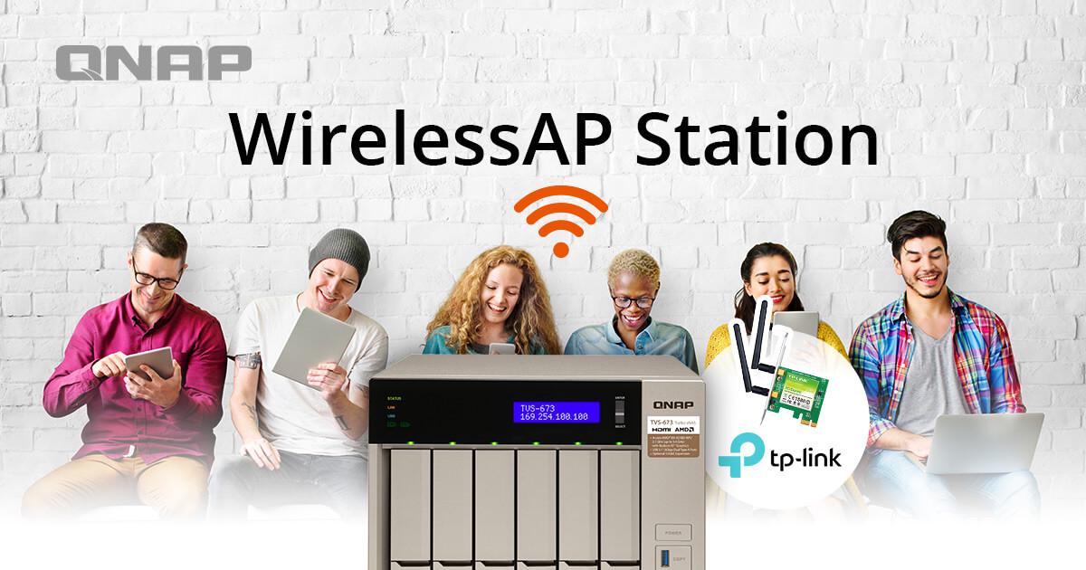 WirelessAP Station | Use NAS as a wireless base station | QNAP