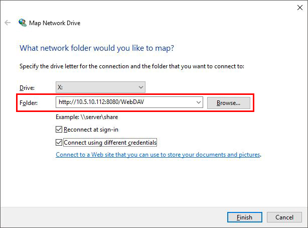 Connecting to WebDAV shared folders on a QNAP NAS in Windows