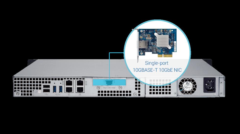 QNAP Systems TS-463XU-4G 4-Bay 10GbE NAS System - Diskless, 1U